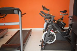 bikes and treadmill